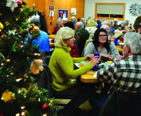 Left - The Alley Bistro, Pic-A-Nic Basket and Ennis Senior Center all donated soups to be served, along with salad and bread, on Saturday, December 8, with proceeds from the dinner benefiting the local Meals on Wheels program.