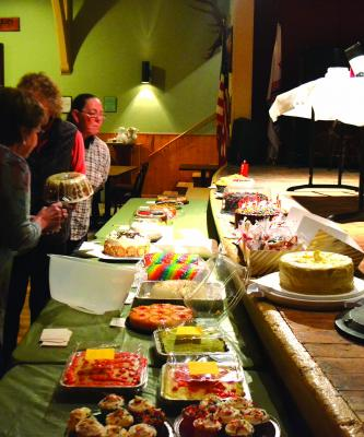 Dozens of homemade cakes were the centerpieces for the Virginia City Fire Department's annual cake walk on Saturday, April 6. Nearly 200 people attended the event, raising over $10,000 for the department.