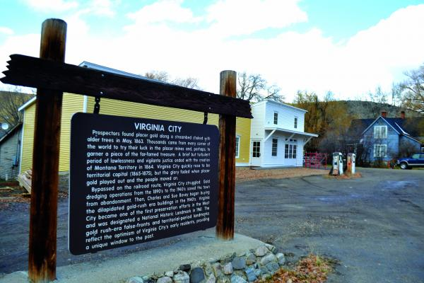 Montana Heritage Commission Executive Director Elijah Allen said construction on the new Information Center at the east end of town should be finished by December 1, with gas flowing from the pumps by about Christmas. (R. Colyer)