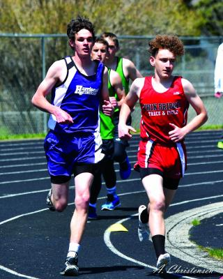 Sophomore, Jackson Nye placed 1st in the 1600 meter run with a time of 5:09:31. He also placed 1st in 400 Meters with a time of 55.44, 1st in 800 Meters with a time of 2:18:55, 6th in 300m Hurdles with a time of 50.78, and 2nd in Javelin with a throw of 126 feet 6 inches. (A. Christensen photos)
