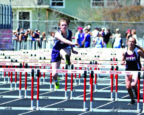 """Harrison sophomore Rosie Chater placed 3rd in the 100m Hurdles with a time of 19.67. She also place 5th in the Triple Jump with 27' 3.5"""", 6th in the Long Jump and 5 in the 4 x 100 Relay."""