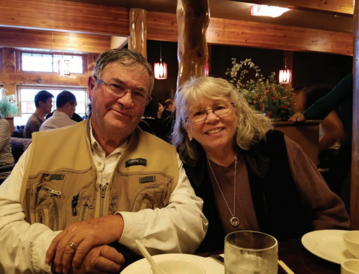 Ron and Susan Hardwick traveled around the country for nine years after Ron retired. Ron worked at the Ennis RV Village when the couple first came to Ennis, and Susan continues to work there now. PHOTO COURTESY OF RON HARDWICK