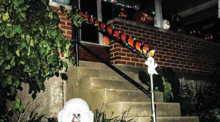 This candy shoot is on an Ohio railing, but a Missoula man, Ben Boyce, has also created a candy shoot to allow his immune-compromised mother to still enjoy the Halloween festivities. All it takes is some PVC pipe and a zip tie. PHOTO COURTESY CNN