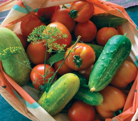 There's nothing like filling up a bag with a fresh load of veggies from the garden.