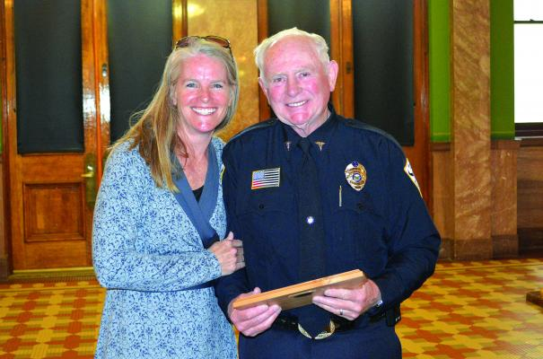 """ABOVE – Francis """"Topper"""" Giono, of Jefferson Valley EMS, Whitehall was honored as a volunteer EMS provider who is exemplary in his/her quality of patient care and dedication to their community. (Submitted)"""