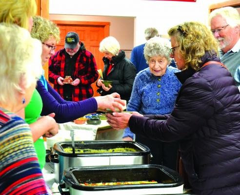 Visitors packed the Ennis Senior Center on December 8 to enjoy homemade soup and to purchase handmade bowls at an Empty Bowls fundraiser.