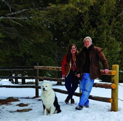 Peter and Gracie Rosenberger have spent at least 20 Christmases at their cabin near McAllister, and their two sons practically grew up in the Madison Valley. McAllister has provided a refuge for the family in the wake of a car wreck that resulted in the amputation of both of Gracie's lower legs in the 1990s. (Courtesy of Peter Rosenberger)