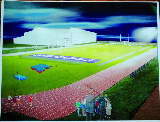 An architect's conception of what the Sheridan track might look like. (File illustration)