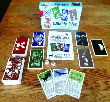 Wildlife Web, a card game developed by Pony author Tom Elpel, offers players a chance to see how the many species of Montana interact with one another and with their surroundings. (T. Elpel photo)