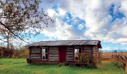 Linderman's Cabin now. The small log structure serves as a memorial to the Montana man who made his mark in government, Native American studies and literature. PHOTO COURTESY VIRGINIA CITY PRESERVATION ALLIANCE
