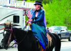 Living History on Memorial Day in Virginia City...  A lady rider, like looking back in time.  (J. Taylor ph