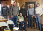 The Madison County Fair Board present Nick Novich with a plaque of appreciated service Jun 20. From left to right:  Bob Lancaster (Maintenance) Fair Board: Jake Barnosky, Heather Puckett, Chad Armstrong, and Bill Holden. Photos courtesy Dana Escott