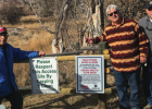 Howard Chrest and Mark Savinski, Sportsmen of Madison County, and Jay Pape, Montana Fish, Wildlife & Parks Region 3 program manager, at the most recent fishing access site off of the Coy Brown Bridge in the Ruby Valley Nov. 5. PHOTO BY HANNAH KEARSE