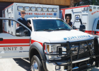 Paramedic Chris Laukant and EMT Kali Currier with the new Ruby Valley EMS ambulance. PHOTO COURTESY DEBRA MCNEILL