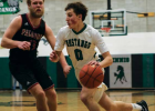 Mustang Ian Swanson drives to the net against Twin Bridges January 2020. FILE PHOTO BY HANNAH KEARSE