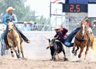 Twin Bridges native Newt Novich takes bull by the horns in Cheyenne. photo by Jackie Jensen