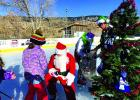 "Virginia City celebrated Christmas with a Skating with Santa extravaganza. Bob (""Dude"") Erdall portrayed Santa for skaters young and old.  (E. Leonard photos)"