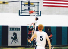 """""""Little Big Man"""" Jaxson Kloote dunks one during the Jan. 28 home matchup against White Sulphur Springs. Ennis won that one 68-41, bringing their record to 3-3. PHOTO COURTESY JARED SMITHSON"""