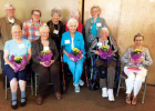 Smiling faces of honorary MVWC members. Front row, L-R: Anita Ames, Joan Clark, Elaine Forsberg, Eileen Wolter, Bobby Klatt Back row, L-R: Pat Hale, Phyllis Wasick, Bev Claassen, Virginia Black, Shirley Storey-Masson PHOTO COURTESY TONI SCULLY
