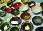 """Artists on display at Gallery 287 in Ennis donated some of their handmade bowls to be used at an """"Empty Bowls"""" fundraiser on Saturday, December 8. Attendees purchased a bowl, which was then filled with homemade soup, salad and bread. Proceeds benefitted the Ennis Meals on Wheels program. (R. Colyer photos)"""
